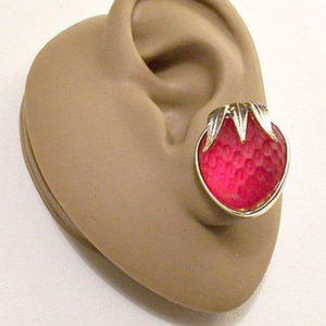 Sarah Coventry Red Strawberry Clip On Earrings